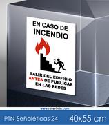 Señaléticas - En caso de incendio, no fotos