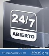 Señaléticas - 24/7 abierto