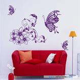 Animales - Mariposas y flores