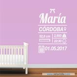 Infantiles Nacimiento - Sencillo niña