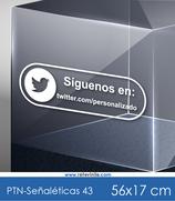 Señaléticas - Síguenos en Twitter