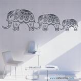 Animales - Familia de elefantes mandalas