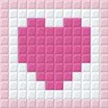 1XL2B Cœur rose