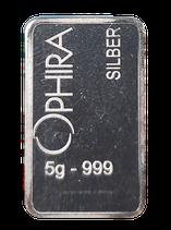 5 g Silberbarren Feinsilber 999,  durch klicken in das nachfolgende Kästchen finden Sie unsere Mengenrabatte