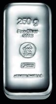250 g OPHIRA Silberbarren , geprägt, Feinsilber 999,9