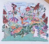 3D Happy Birthday Fairy Tale Card