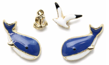 Cute Whale 4pcs   Earrings
