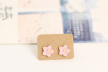 Porcelain Cute Stud Flower Earrings