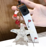 Big Starfish With Cute Charm Keychain