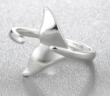 Sterling Silver Fish Tail Ring