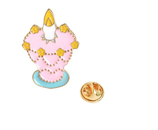 Cute Candle Brooch