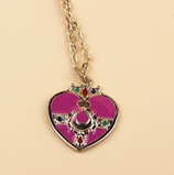 Cute Pink Heart Necklace