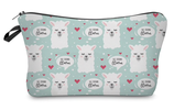 Animal Heart Cosmetic Bag