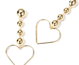Heart Design Dangle Earrings