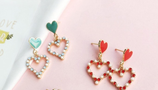 Lovely Heart Shaped Earrings