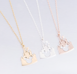 Lovely Mickey Head Castle Necklace