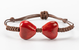 Porcelain Heart Shape Bracelet