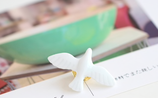 Porcelain Bird Design Brooch