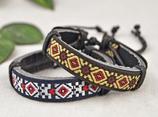 Cotton Coloured Leather Bracelet