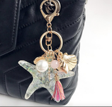 Big Starfish With Colourful Tassel Keychain