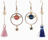 Starry Earth Tassel Earrings