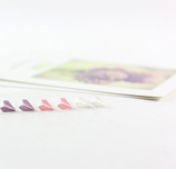 Porcelain Colourful  Paper Plane Earrings
