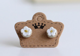 Porcelain Small Flower Earrings