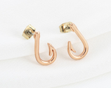 Fish Hook Stud Earrings