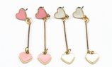 Cute Heart Long Earrings