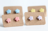 Porcelain  Colourful Star Earrings