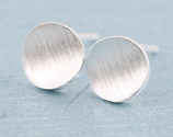 Sterling Silver Round Earrings