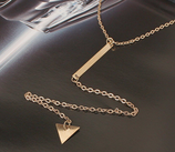 Gold Triangle Design Necklace