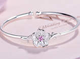 Sterling Silver Cherry Blossom Bracelet