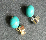 Turquoise Round Ear Cuff