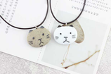 Porcelain Cat Face Necklace