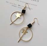 Elegant Gold Star Earrings