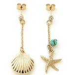 Sea Shell Long Earrings