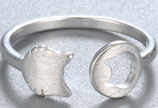 Sterling Silver Lovely Cat  Ring