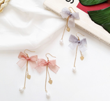 Sweet Drop Ribbon Earrings
