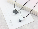 Porcelain Triangle Necklace