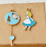 Alice And Clock Earrings