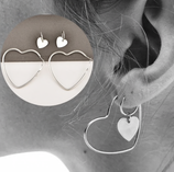 Heart Earrings And Ear Cuff Set