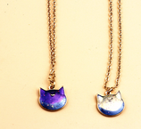 Cute Moon Cat Necklace