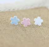 Porcelain Stud Flower Earrings