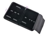 Etui aus schwarzem Kunstleder - universal Tasche mit Reißverschluss - 7 Laschen für Podologie Instrumente - Kosmetikstudio - Haarscheren und vieles mehr! - Verkauf Ohne Inhalt