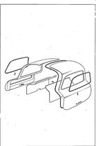 VgNr. 1987250123 Dichtung Seitenfenster Tür Flügeltür links Abdichtrahmen  OE  left door window seal rubber W198 300SL Flügeltürer