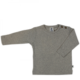 t-shirt gris melange manches longues, Leela Cotton
