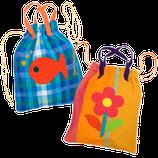 sac en tissu décoré, Barefoot