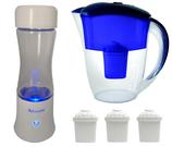 AquaVolta® Age2 Go Wasserstoffwasser Generator + Tisch-Wasseraufbereiter mit Aquaspace Aktivwandler + 3 Extra Aquaspace Aktivwandler