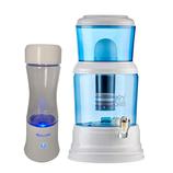 AquaVolta® Age2 Go Wasserstoffwasser Generator + Wasserfiltersystem YVE-BIO® 3000 Premium Supérieur/Glas